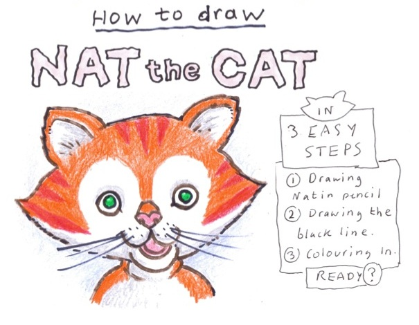 How to Draw Nat the Cat